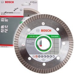 BOSCH TARCZA DIAMENTOWA 115MM BEST FOR CERAMIC EXTRACLEAN TURBO DO CIĘCIA CERAMIKI, GRESU