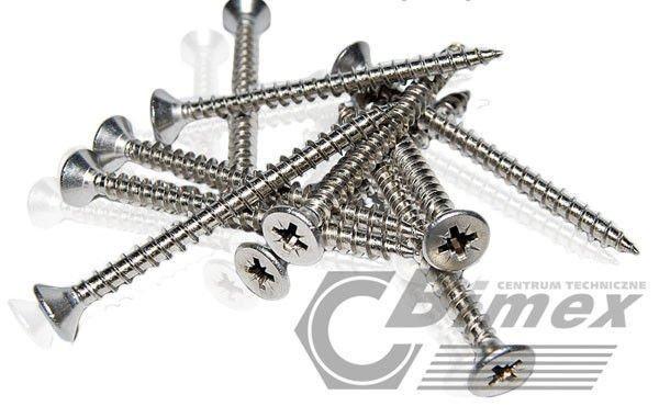 Wszystkie nowe 6x20 WKRĘTY NIERDZEWNE DO DREWNA A2 20 SZT. | Artykuły metalowe YZ01