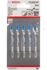 Bosch brzeszczot do wyrzynarki Flexible for Metal 118 EOF 5PC